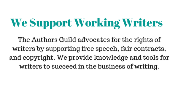 We support working writers - authors guild